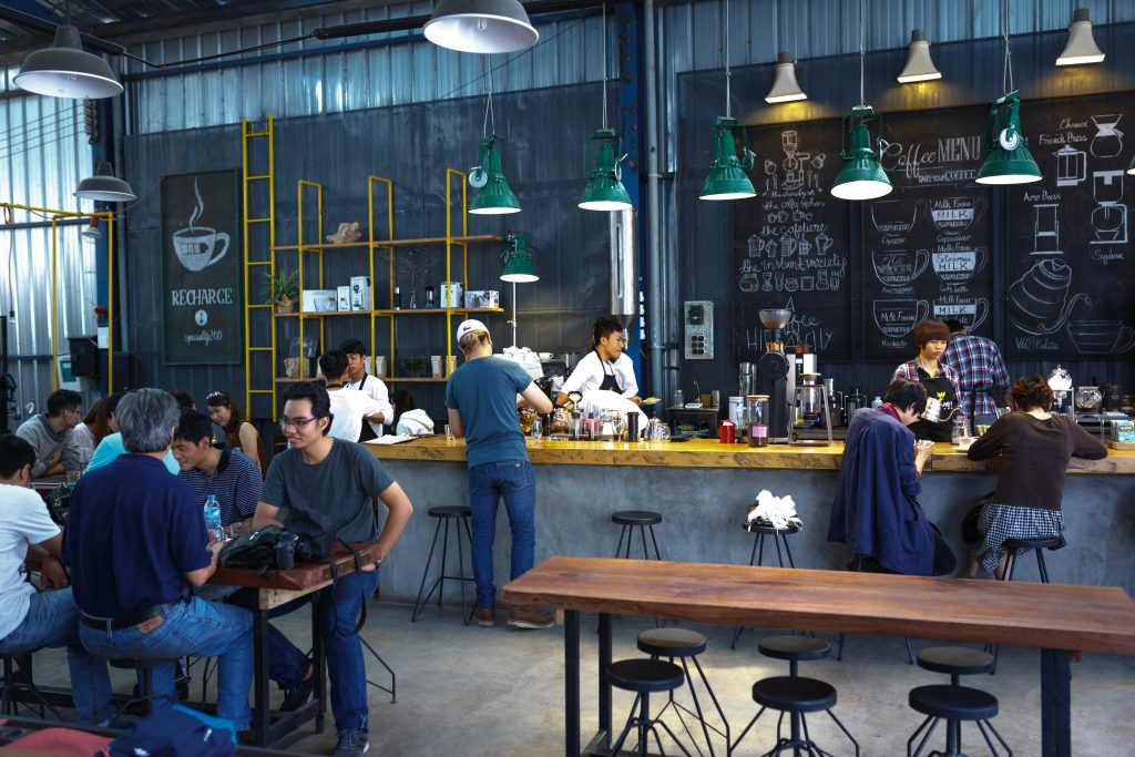 Cost comparison  for Coffee Shop vs Coworking Spaces